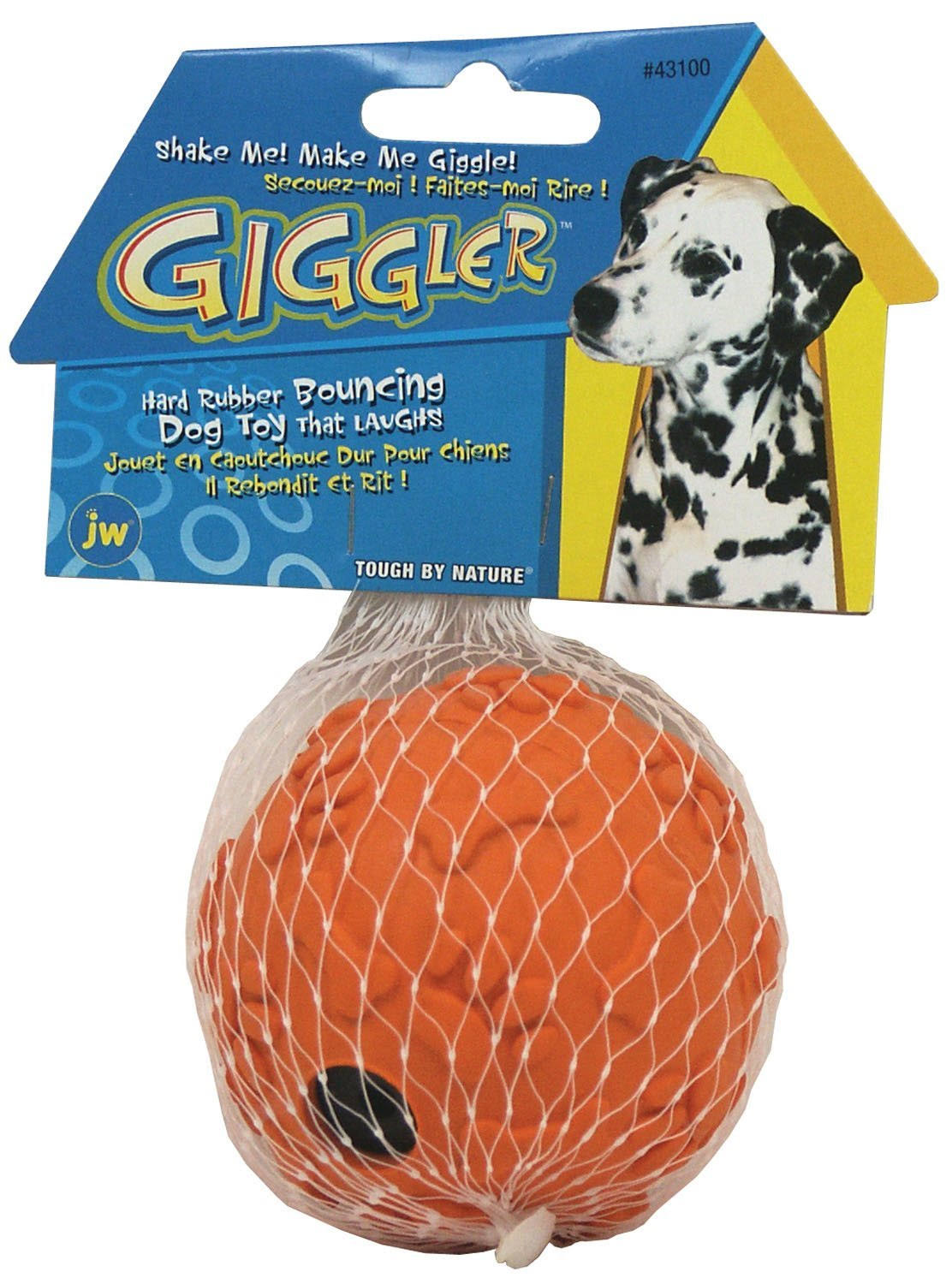 JW Pet Company 43100 Giggler Ball Dog Toy - Regular, Colors Vary