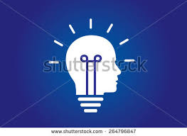 colorful bright simple glowing idea light stock vector 227568127