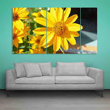 Multiple Frames Beautiful Flower Wall Painting 150cm X 76cm