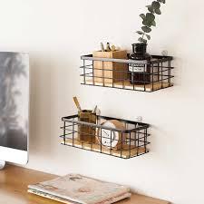 holz eisen wand regal weiß schwarz küche schlafzimmer wohnkultur organisation halter wand montiert lagerung rack moderne stil