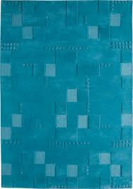 Mat Blue Hilo Solid Color Rug