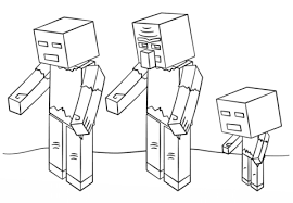 Click To See Printable Version Of Minecraft Zombies Coloring Page