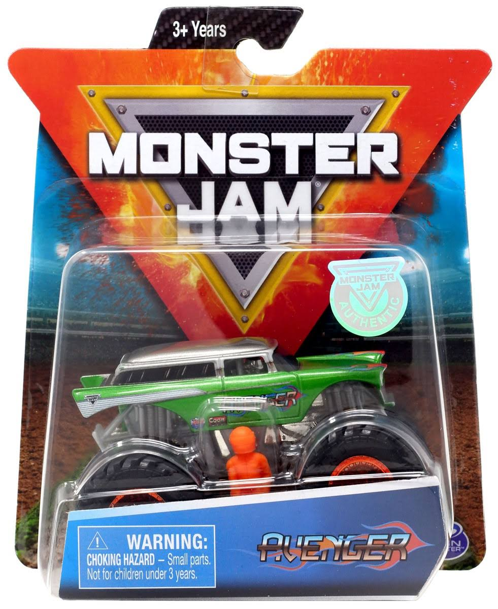 Monster Jam, Official Avenger Monster Truck, Die-Cast Vehicle, World Finals Series, 1:64 Scale