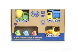 Green Toys 3-Pack Construction Trucks Vehicle Set - Toys