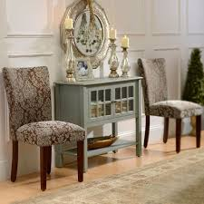 Brown Damask Parsons Chair