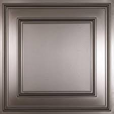 2x4 Acoustical Ceiling Tiles Home Depot by Ceilume Madison White 2 Ft X 2 Ft Lay In Coffered Ceiling Panel
