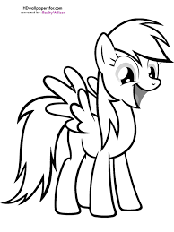 My Little Pony Clipart Printable Coloring Page 13