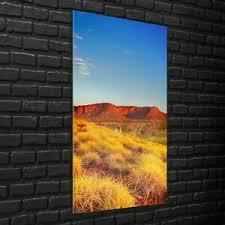 details zu wandbilder glasbilder wohnzimmer 70x140 australische landschaft wildnis wüste