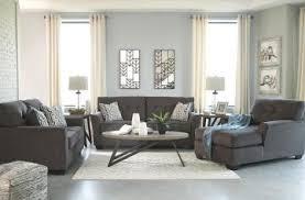 Alsen 2 Piece Living Room Set In Granite