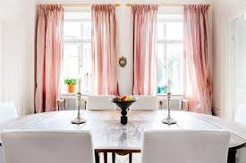 Perfect Pale Pink Curtains Designs with Dining Room Pink Curtains