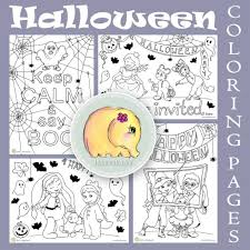 Halloween Coloring Books For Adults by Cute Halloween Coloring Pages Hattifant
