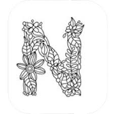 Letter N Coloring Book Printable Coloring Page For Kids