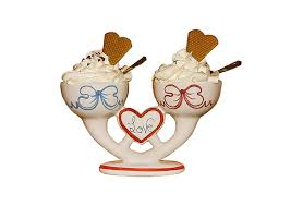 Ice Cream Sundae Stand In Ice Ice Cream Cream Cups