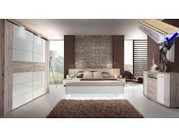 schlafzimmer rubio 21b sandeiche weiß bett komplett schrank kommode led expendio