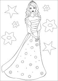 Princess Free Disney Barbie Coloring Pages