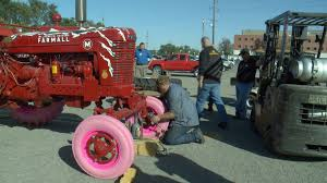 Breast Cancer Survivor Helps Inspire Pink Tractor Tires | Whotv.com Used 95 X 24 Tractor Tires Post All Of Your Atvs Or Mud Truck Pics Muddy Mondays F150 With Fail F150onlinecom Ag Otr Cstruction Passneger And Light Wheels Tractor Tires Bias R1 Agritech Imports 2017 Mahindra Mpower 85p Wag City Tx North Texas Equipment 2 Front Tractor Tires Wheels Item F7944 Sold July 8322 Suppliers 1955 Ford Monster Truck Burnout Smoking 5 Foot Off In Traction Firestone M Power 85 Getting The Last Trucks Ready To Haul Down