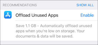 How to Free Up Space on Your iPhone or iPad by floading Unused Apps