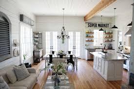 open layout modern farmhouse living room decor living room