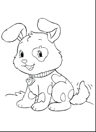 Cute Puppy Colouring Pages To Print Baby Coloring Animal Printable Christmas Little Full Size