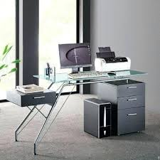 Glass And Metal Computer Desk With Drawers by Glass Top Computer Desk With Drawers And Metal Contemporary Modern