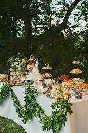 Wedding Dessert Table Idea Outdoors Cake