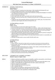 Automation QA Resume Samples | Velvet Jobs