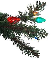 Equinox 75 Pre Lit LED Retro Pine Artificial Christmas Tree