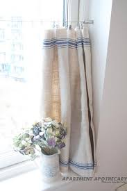 What To Do With A Grain Sack Kitchen Curtains
