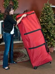 Upright Christmas Tree Storage Bag With Wheels by Santa U0027s Bags Premium Christmas Tree Dolly Storage Bag Holiday