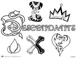 Descendants 2 Coloring Pages Free Logos And Page Logo Dizzy
