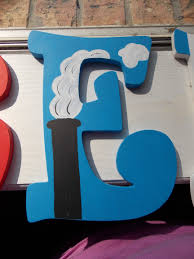 Thomas The Tank Engine Wall Decor by Thomas The Train Custom Painted Wooden Letters Sebastian