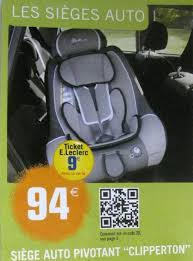 siège auto bébé chez leclerc siege auto leclerc carabiens le forum