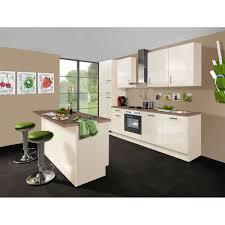 küchenzeile mit insel magnolienweiß hochglanz oregon eiche nachbildung 285 120 cm