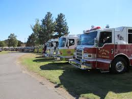100 Blue Fire Trucks Meeting The Logistical Challenges Of A Huge Wildfire Fight The