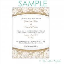 Rustic Burlap And Lace Wedding Invitation Template SAMPLE