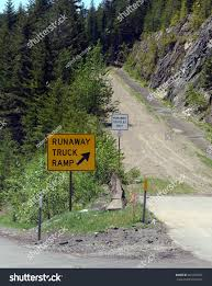 100 Runaway Truck Ramp Video Road Sign Forest Stock Photo Edit Now 661650502