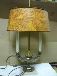 vintage underwriters laboratories brass wood portable desk table