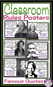 Class Rules Posters Famous Quotes