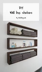 Easy DIY Shelves | Decor Bathroom Shelves Ideas Shelf With Towel Bar Hooks For Wall And Book Rack New Floating Diy Small Chrome Over Bath Storage Delightful Closet Cabinet Toilet Corner Decorating Decorative Home Office Shelving Solutions Adjustable Vintage Antique Metal Wire Wall In The Basement Inspiration Living Room Mirror Replacement Looking Powder Unit Behind De Dunelm Argos