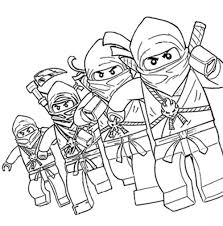 Lego Ninjago Pictures Color Category Coloring Page