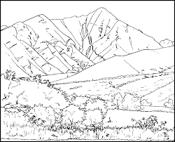 Good Mountain Coloring Page 59 With Additional For Kids