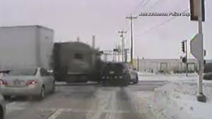 100 Truck Crashes Caught On Tape On Camera Semitruck Slams Into Police Car On Snowy