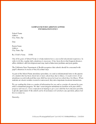 Leave Absence Letter Template For School New Absent From School