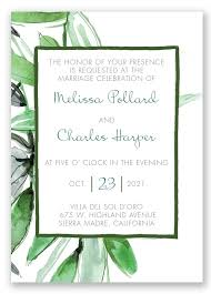 Simple And Fresh This Wedding Invitation Is Designed To Feature Your Day Information In A Naturally Appealing Format The Two Sided