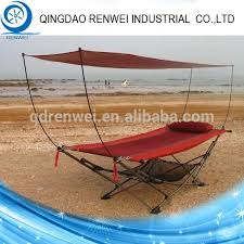 Steel Folding Hammock Stand With Canopy outdoor Hammock Stand