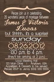 Designs By Samantha Surprise Rustic 25th Anniversary Invitationmy