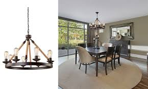 Modern Dining Room Light Fixtures by Rustic Dining Room Lighting Fixer Upper A Update For A Family