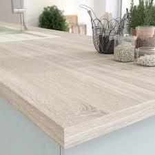plan de travail cuisine grande largeur plan de travail stratifié effet chêne scié naturel mat l 315 x p 65