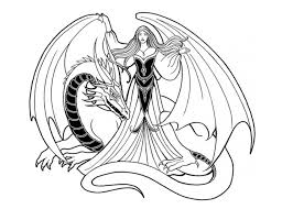 Fancy Dragon Coloring Pages For Adults 87 About Remodel Kids With