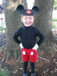 Homemade Costume Idea Mickey Mouse